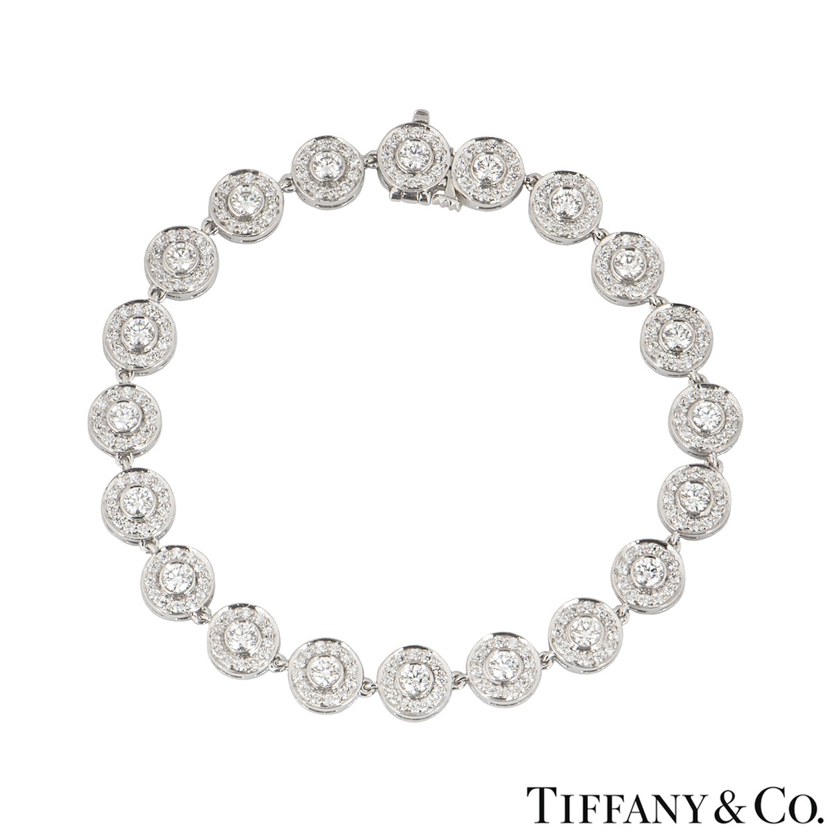 Tiffany & Co. Platinum Diamond Circlet Bracelet